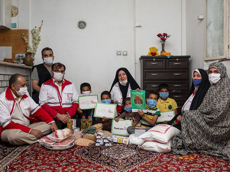 توزیع 2000 بسته مواد غذایی در شهرستانهای استان تهران و البرز