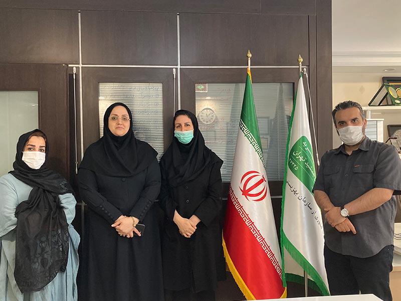 حضور معاونت محترم مشارکت های مردمی اداره کل بهزیستی استان تهران در دفتر خیریه نیک گامان