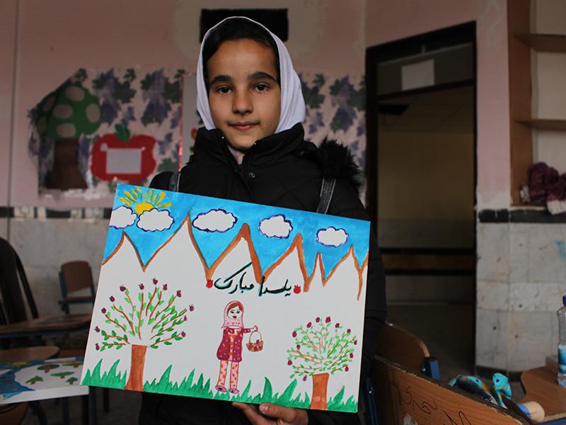 کارگاه نقاشی کودکان آسیب دیده از زلزله کرمانشاه