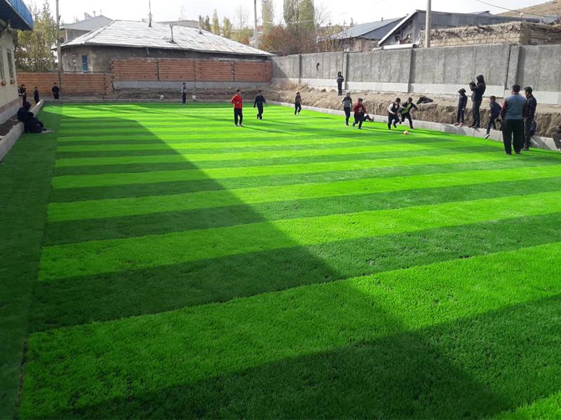 احداث زمین ورزشی در زمین مدرسه روستای طولش، شهرستان خلخال، استان اردبیل