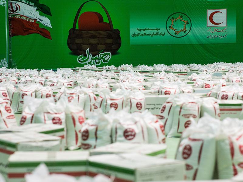 تهیه و توزیع 3500 بن کارت و بسته کامل مواد غذایی میان آسیب دیدگان بحران کرونا