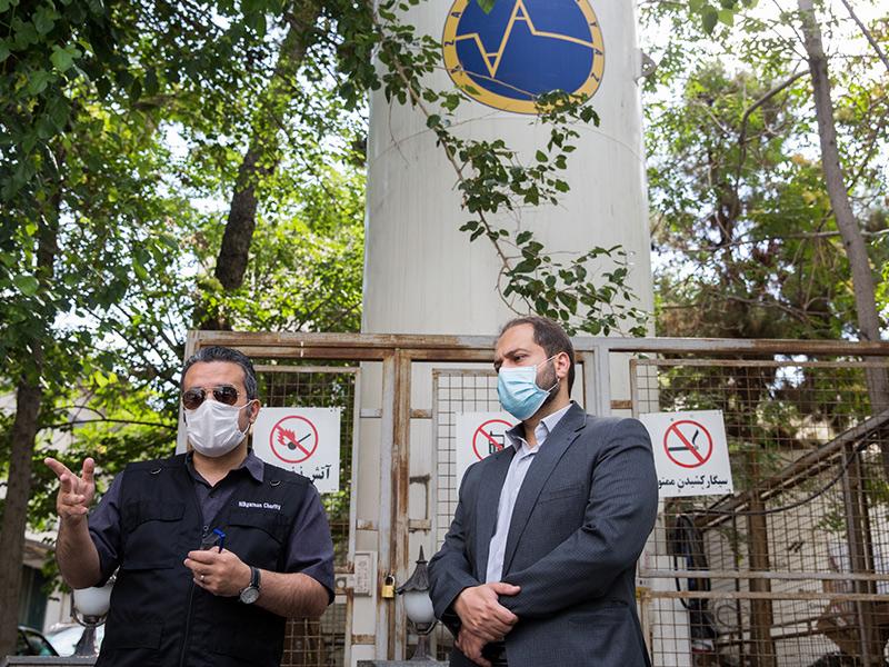 تهیه دستگاه اکسیژن ساز مرکزی برای بیمارستان های سانتر کرونا