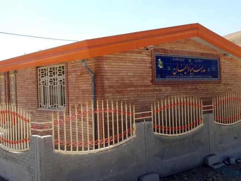 ساخت مدرسه، استان کرمانشاه، شهرستان هرسین، روستای دهسنان