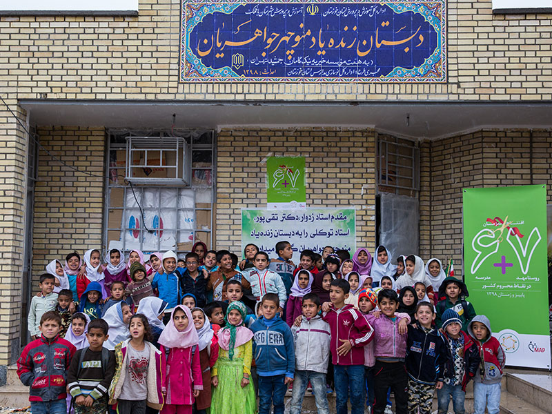 ساخت مدرسه، استان خوزستان، شهرستان اهواز، روستای گبیر